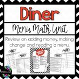 Diner Menu Math Unit