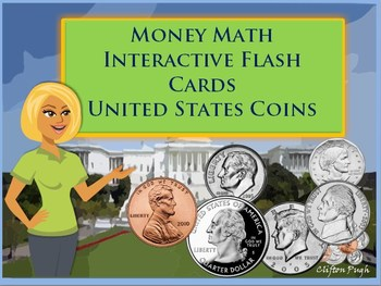 Money Math Interactive Flash Cards  United States Coins
