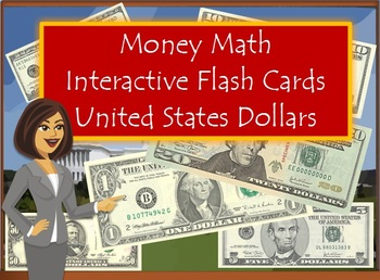 Money Math Interactive Flash Cards United States Dollars