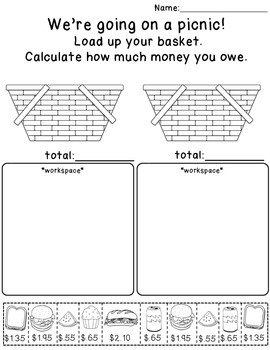 Lets Buy Lunch! Money & Math (CCSS,  Life Skills)