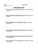 Buying Food - Making Change #2; Real World Math