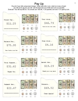 Money Math: Pay Up