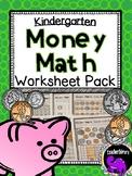 Money Math Practice Worksheets For Kindergarten