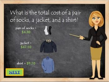 Money Math Quiz for Kids Consumer Math Book 2