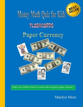 Money Math Quiz for Kids  Flashcards  Paper Currency