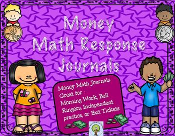 Money Math Response Journal-- No Prep Print and Go