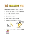 Money Math Sheet
