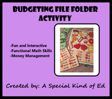 Budgeting Worksheet - File Folder Activity! (Life Skills, Math, Money Skills)
