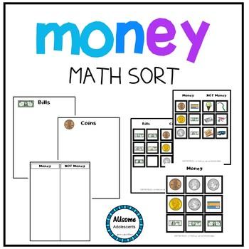 Money- Math Sort (sped/autism/elementary)