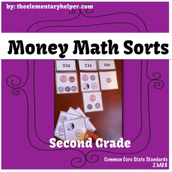 Money Math Sorts: First and Second Grade