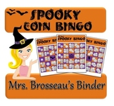 Money Math - Spooky Halloween Adding Coins Bingo Cards - 30 Unique Cards!