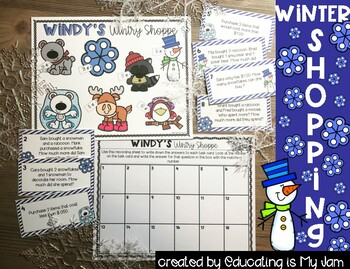 Money Math Station - Winter shopping