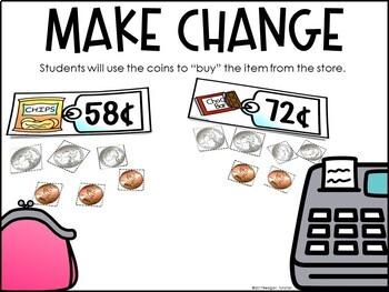 Money Math Stations First Grade