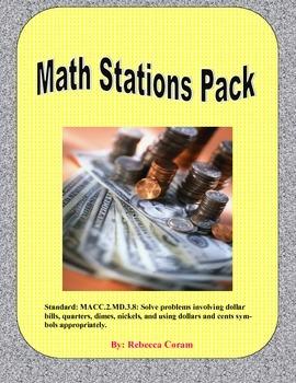 Money Math Stations Pack