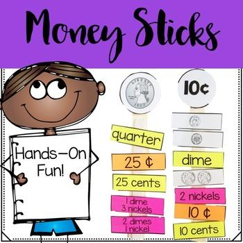Money Math Sticks
