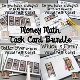 Money Math Visual Task Card Bundle (special education)