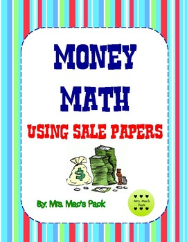 Money Math Actvity- Using the Sunday Sale Papers