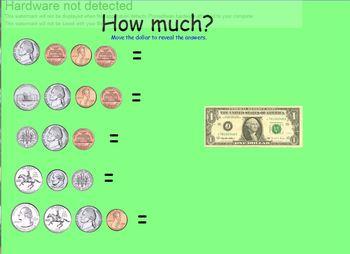 Money Math flipchart for Activboard