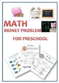 Money Math for preschool: Learning Coins and money math problem solving