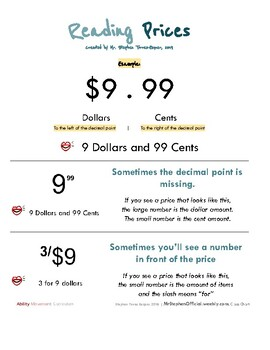Money Math for students with moderate to extensive support needs