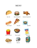 Money Math- menu and shopping with whole dollar amounts