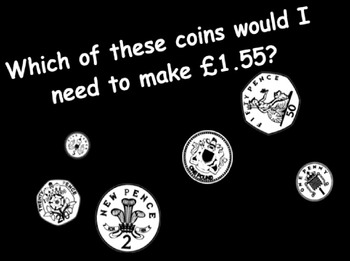 Money Maths - converting pounds to pence and solving problems