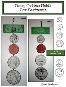 Money Matters Mobile: Coin Craftivity Great For Presidents' Day