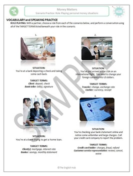 Money Matters (A): Personal finance role playing scenarios