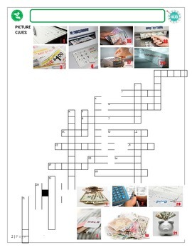 Money Matters (A): Personal finances crossword puzzle