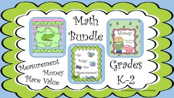 Money, Measurement, and Place Value, Math Bundle for K-2nd