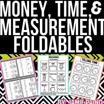 Money, Measurement, and Time FOLDABLES