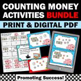 Money BUNDLE of Activities & Games for 1st 2nd 3rd Grade Math