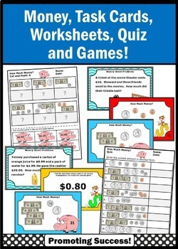 Counting Money Worksheets & Task Cards TpT Digital Activities & Printables