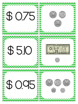Money Memory - Counting Coins and Bills