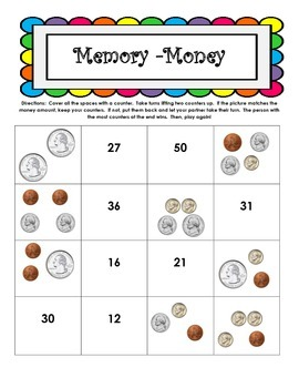 Money - Memory Games - 3 included
