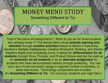 Money Menu Study