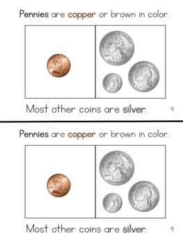 Money Mini-books: an introduction to coins