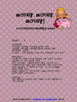 Money, Money, Money! A Coordinate Graphing Game