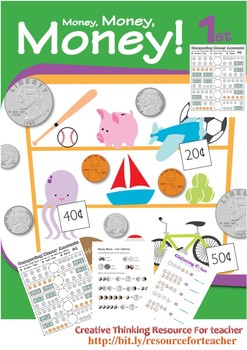 Money, Money, Money - All money problem for grade 1 (printable and ready to use)