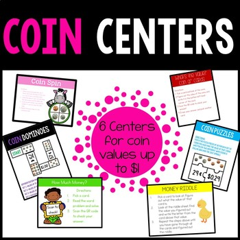 Money, Money, Money! Coin Centers Bundle for Values up to $1
