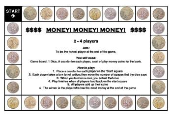 Money Money Money Game- Australian Coins