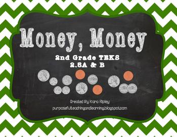 Money. Money Task Cards {2nd Grade TEKS 2.5A & B}