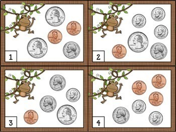 Counting Money Task Cards - Counting Coins