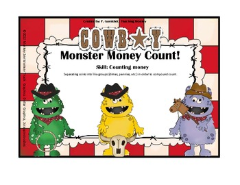 Money: Monster Money Counting Coins and Dollars Halloween/Cowboy