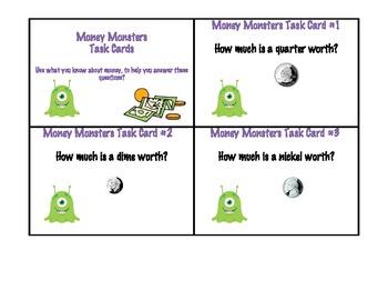 Money Monster Task Cards