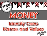 Money: Names and Values of Coins Boom Cards