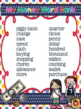 Money No Prep Writing Printables for Your Daily Five Work on Writing Center