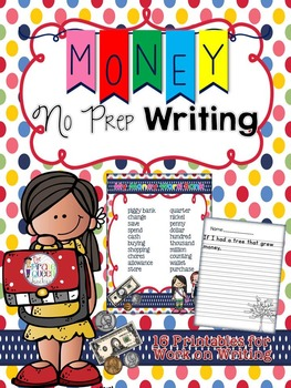 Money No Prep Writing Printables for Your Daily Five Work