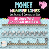 Money Number Lines (Personal & Commercial Use)