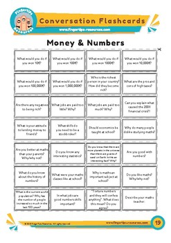 Money & Numbers - Conversation Flashcards